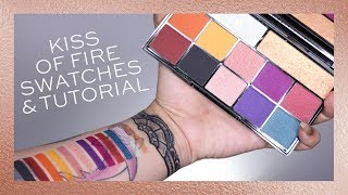 REVOLUTION | KISS OF FIRE SWATCHES + EYE LOOK!