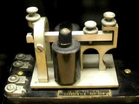 Telegraph Sounder & Box Relay - American Morse Code