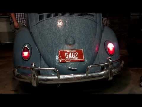 Matt's 1963 Volkswagen Beetle rear plate light, turns and blinkers