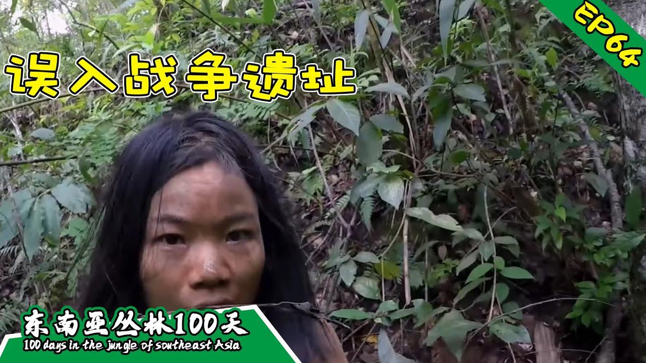 EP64 被死亡笼罩的丛林,丛林探险,误入战争遗址丨挑战丛林生存100天 DAY46