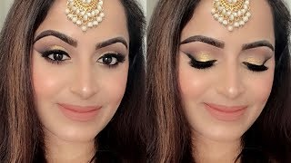 गोल्डन वेडिंग मेकअप घर पे कैसे करें Golden Indian Wedding guest Makeup At Home using Only COLOURPOP