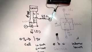 Ultra simple Joule Thief replication with no toroid