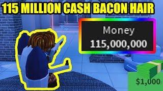 BACON HAIR REACHES 115 MILLION CASH in Roblox Jailbreak