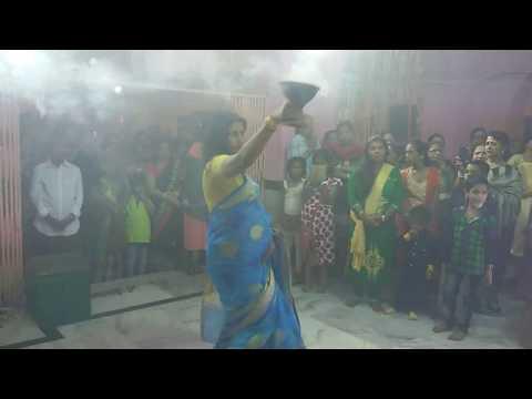 মেয়দের ধুনোচি নাচ দূর্গা পুজোর (DMRCT)