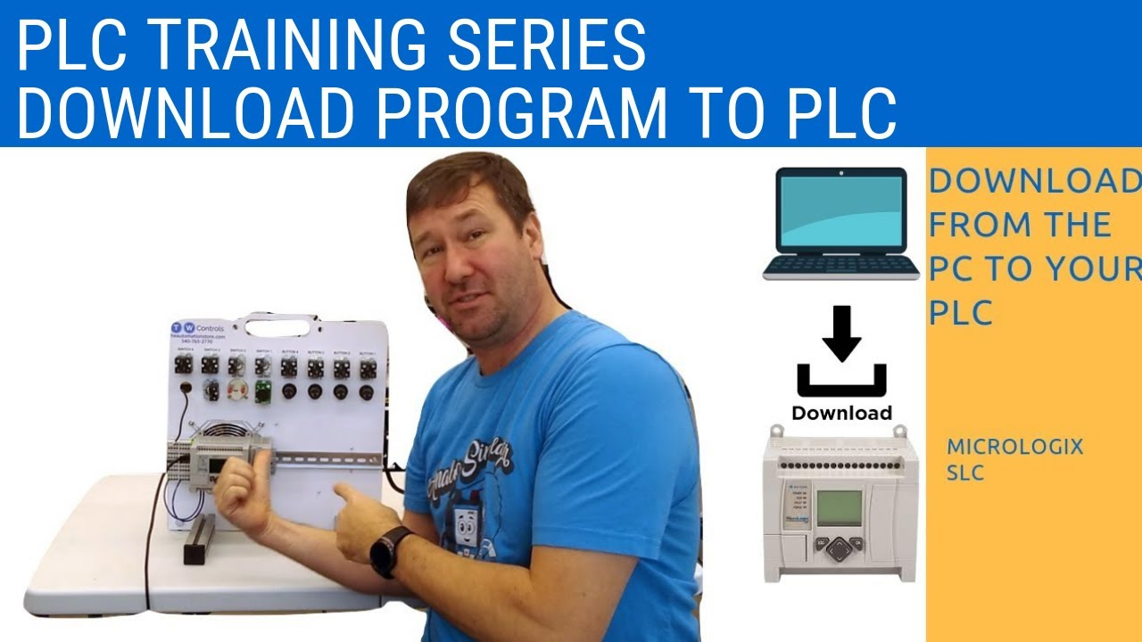 RsLogix 500 - Downloading the Program from Your PC to PLC for Allen Bradley  Micrologix or SLC 500