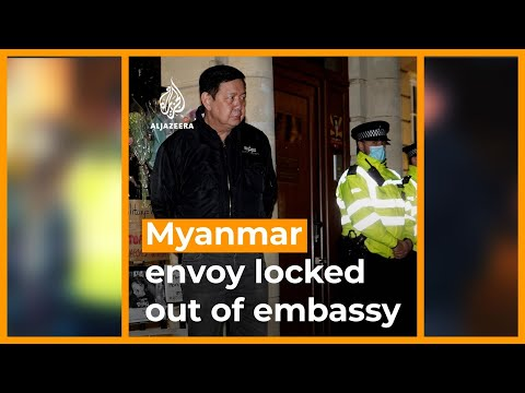 Myanmar ambassador locked out of London embassy | AJ #shorts