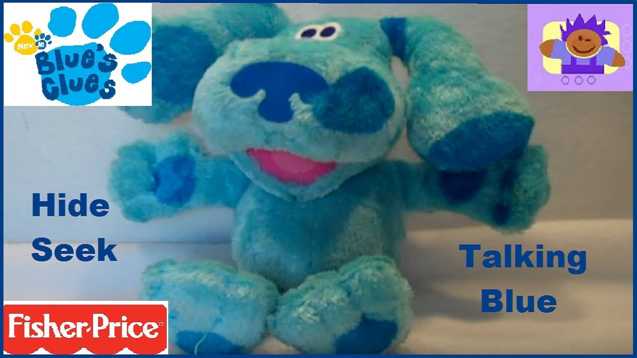 2006 Blues Clues Hide and Seek Blue Plush toy By Fisher ...