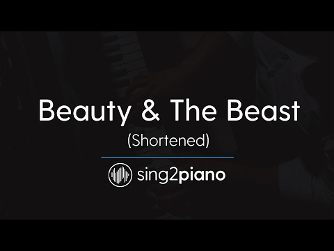Beauty & The Beast (Short Piano Karaoke) Ariana Grande & John Legend