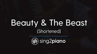 Beauty & The Beast (Short Piano Karaoke) Ariana Grande & John Legend