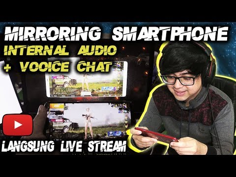 Cara Live Streaming Mirroring Android + Internal Audio + Voice Chat - Part 2