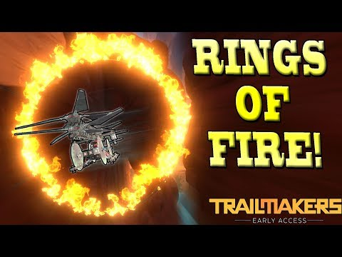 Flying a CRAZY HELICOPTER through RINGS OF FIRE! - Trailmakers Early Access Gameplay Ep7