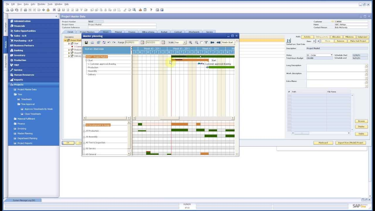 Sap business one project time management youtube sap business one project time management xflitez Image collections