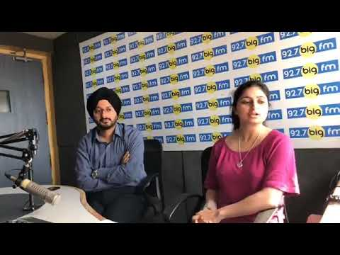 Chairman #JKSSB Mr Simrandeep Singh in 92.7 fm studios with BIG MJ Juhie