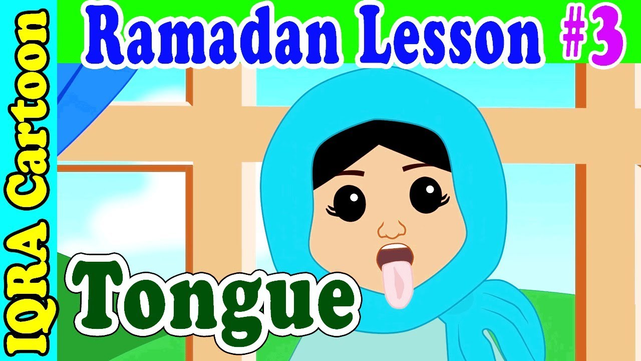 Fasting with Tongue  : Ramadan Lesson Islamic Cartoon for Kids Ep #3