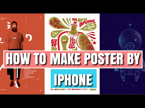 How To Make Poster In Iphone,how To Make Poster In Mobile Phone
