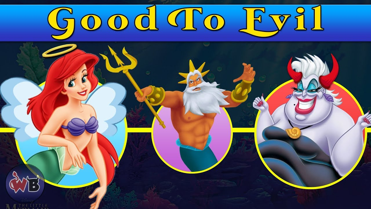 Download The Little Mermaid Characters: Good to Evil (+Sequels) 🧜♀️