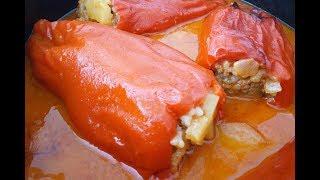 ФАРШИРОВАННЫЙ ПЕРЕЦ с мясом в духовке (сербская кухня)