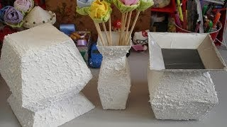 Vaso com caixa de leite - passo a passo - tutorial - diy - artesanato - reciclagem