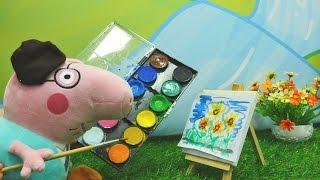Детское видео про Свинку Пеппу - Папа Свин художник
