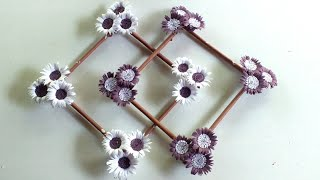 Paper Flower Wallmate - Wall Hanging Craft Ideas - Handmade Paper Flowers For Room Decor .