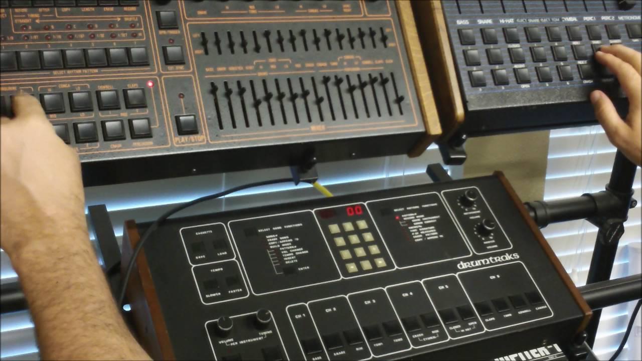 drum machine sound test linndrum vs dmx vs drumtraks youtube