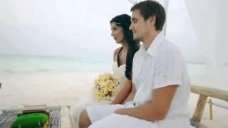 Свадебная церемония на пляже. Мальдивы.
