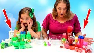 BATALIE intre SLIME-uri Slime VERDE vs Slime Rosu Red Slime vs Green Slime Satisfying Sli ...
