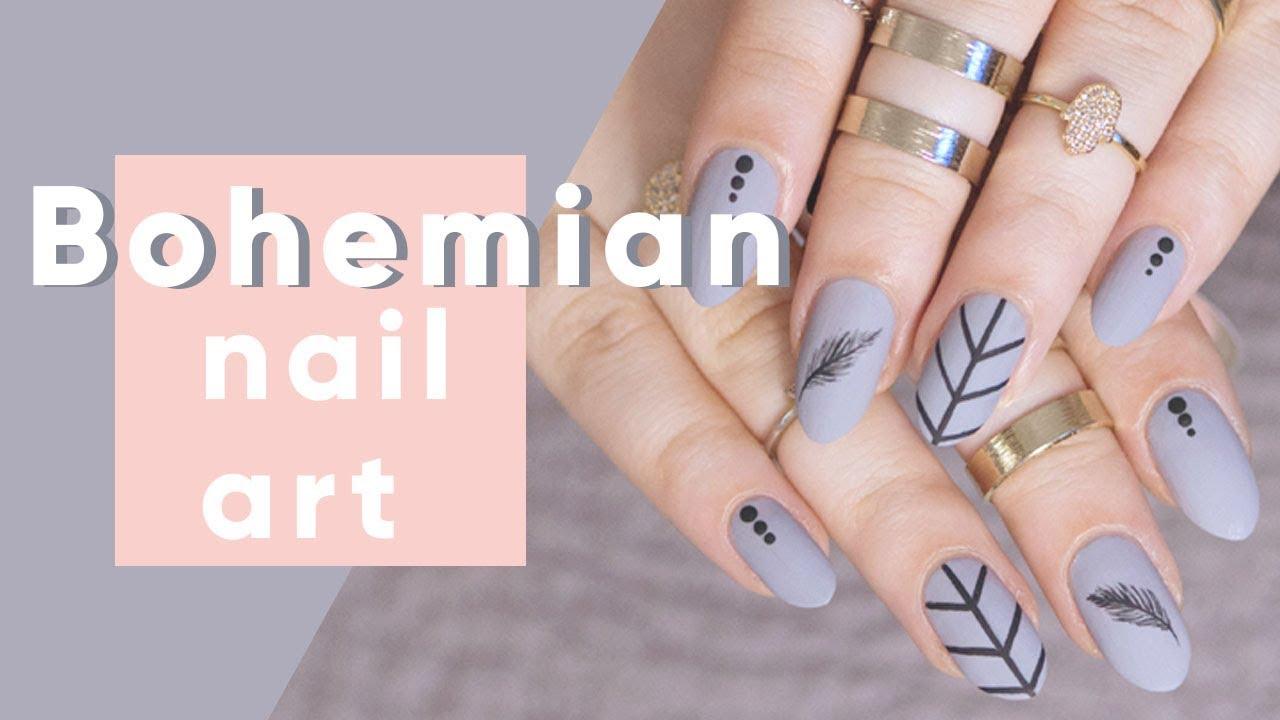 Bohemian Nail Art Tutorial   ipsy Nailed It - YouTube