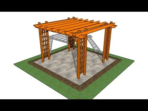 How to build a pergola on a patio - How To Build A Pergola On A Patio - YouTube