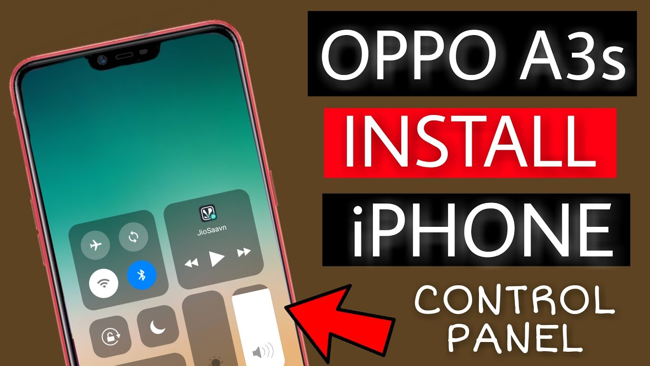 New update Oppo A3s | Use iphone X control panel on Oppo a3s | Faisal Alam  Official