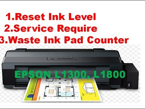 Reset Epson L1300 Waste Ink Counters Reset