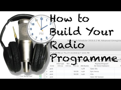 Building a Radio Programme in Radiologik Scheduler
