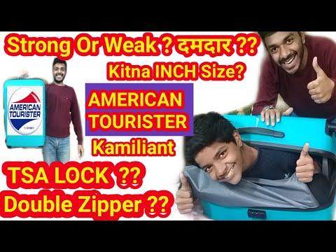 American Tourister trolley bag| kamiliant | Tsa lock | unboxing| American Tourister trolley review|