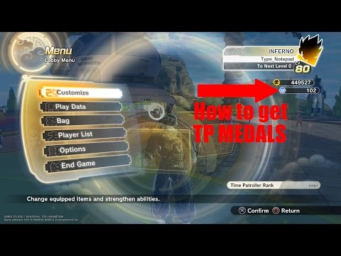 Dragon Ball Xenoverse 2 how to get  TP medals [TUTORIAL] closed beta