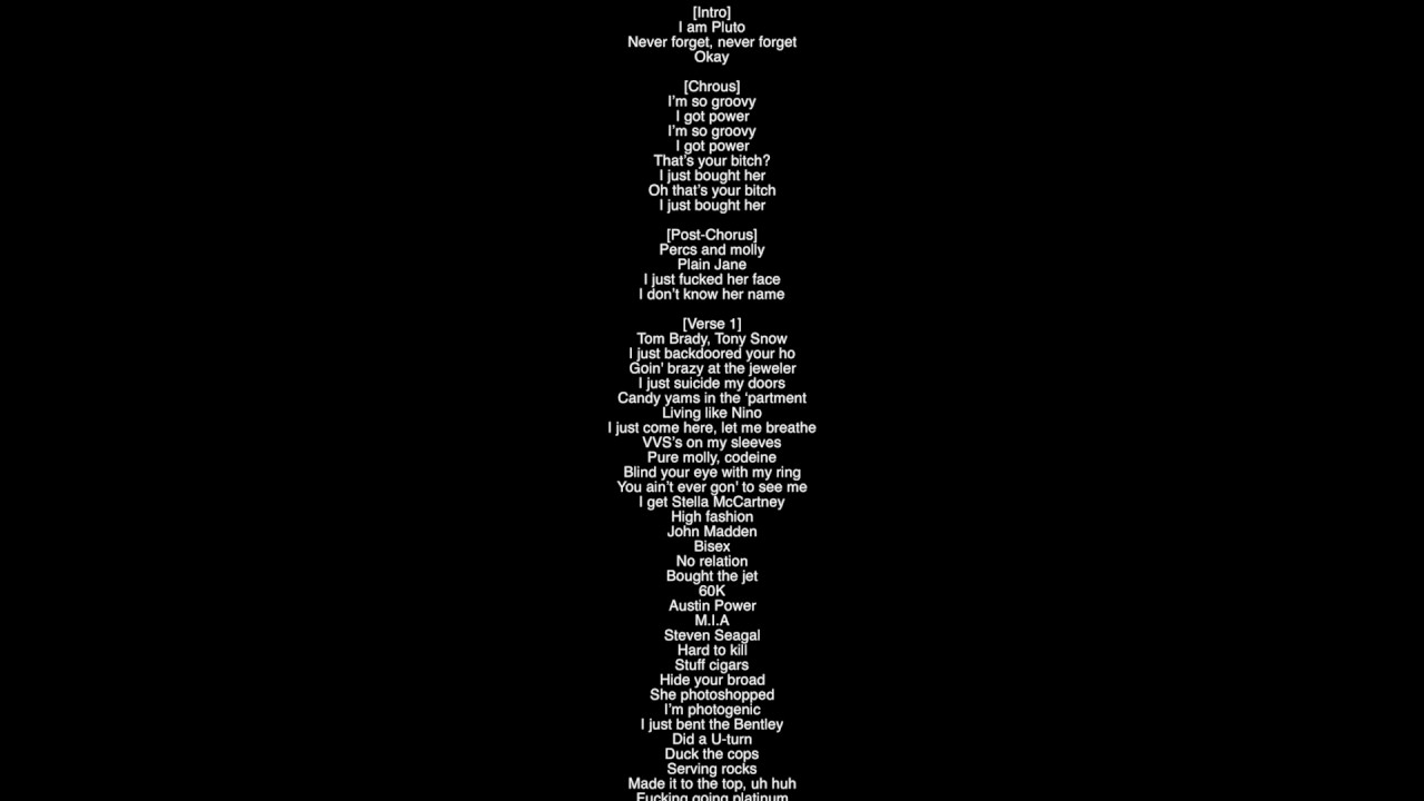 Lyrics to fuck faces can help