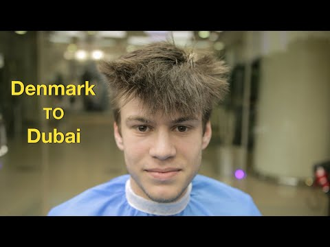 Going to Dubai to Get His Favorite Haircut & Hairstyle ✔️ thumbnail