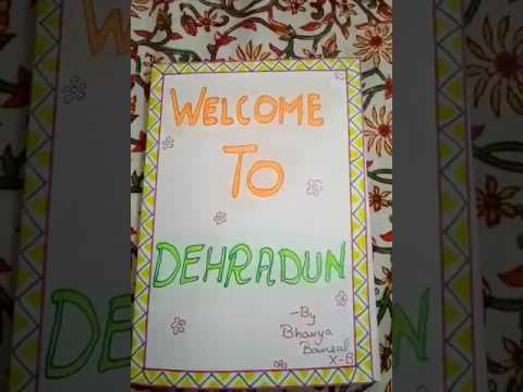 Handmade brochure on Dehradun