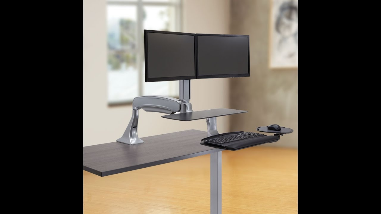 how to use a stand up desk for home office office setup youtube. Black Bedroom Furniture Sets. Home Design Ideas