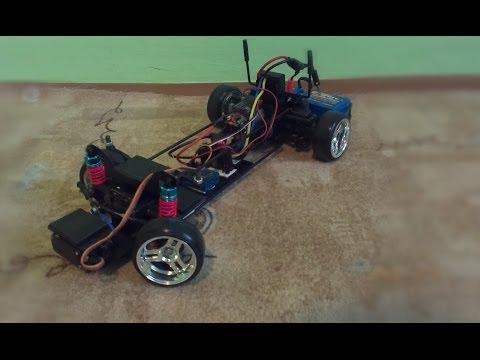 Homemade RWD RC drift car