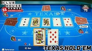 Clubhouse Games: 51 Worldwide Classics - Texas Hold'em Gameplay