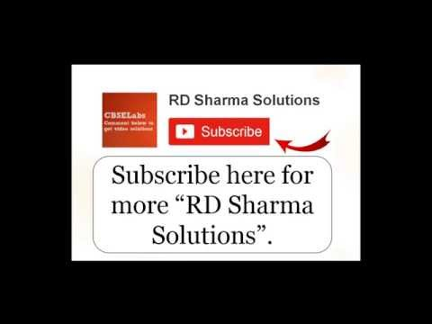 rd sharma class 10 solutions chapter 3
