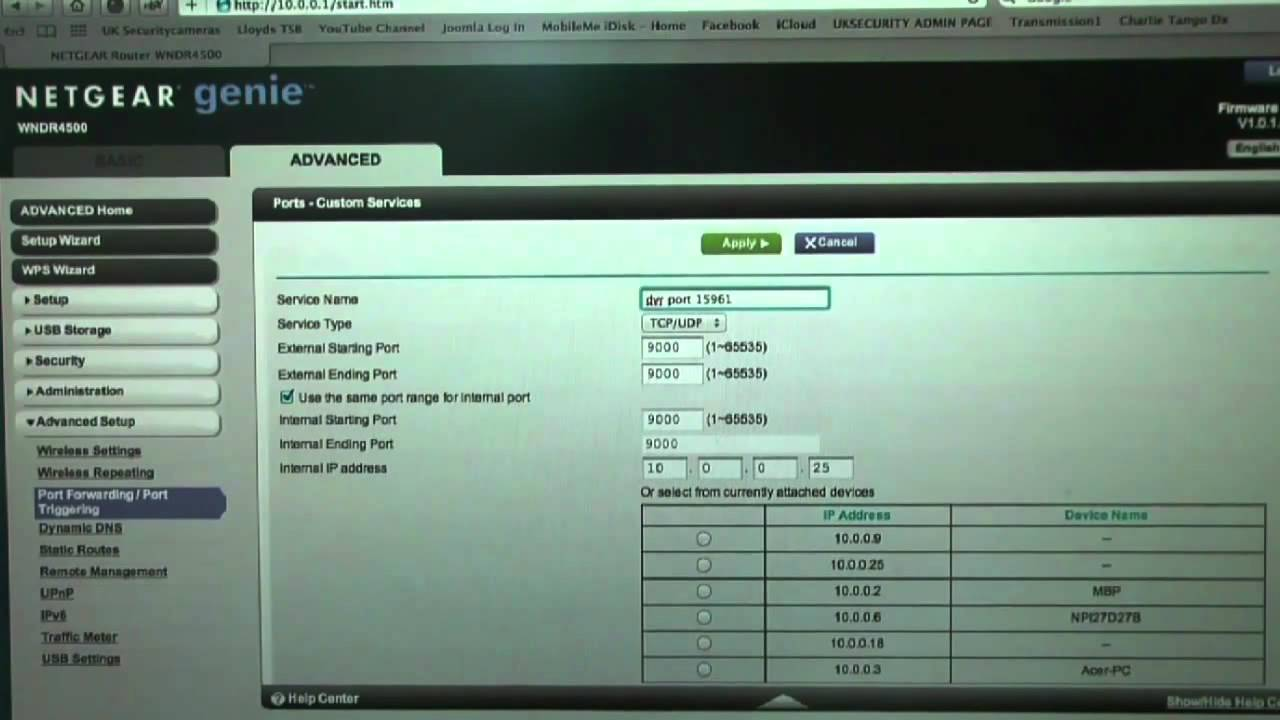 DVR Network Setup and Netgear Port Forwarding - KIQR4D & KIQR8D
