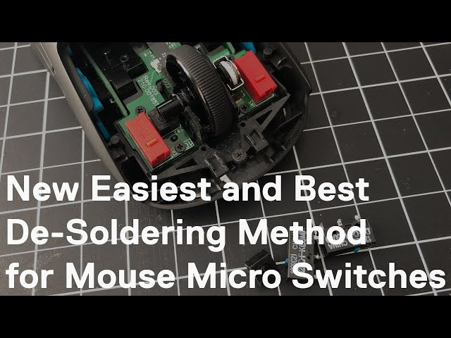 Easiest and Best Method for Desoldering Mouse Micro Switches! (found via turbobitbox)