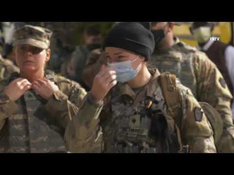 拜登就职典礼后的第二天,更多国民警卫队抵达华盛顿【阿波罗网编译】