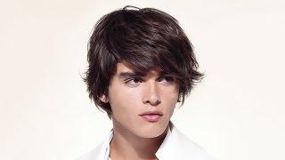 Стрижка мужская с челкой для длинных волос