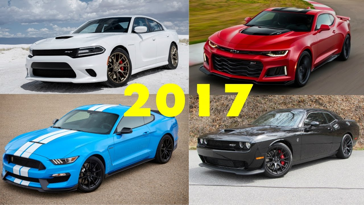 2017 Muscle Car Comparison Dodge Challenger Hellcat Camaro Zl1 Mustang Gt350r More You
