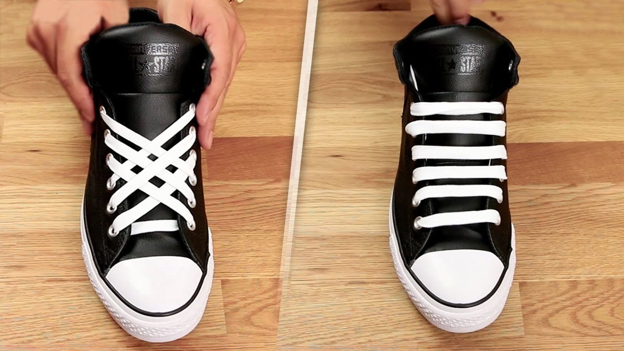 3c941dad46ab92 5 Coolest Ways To Tie Shoe Laces - YouTube