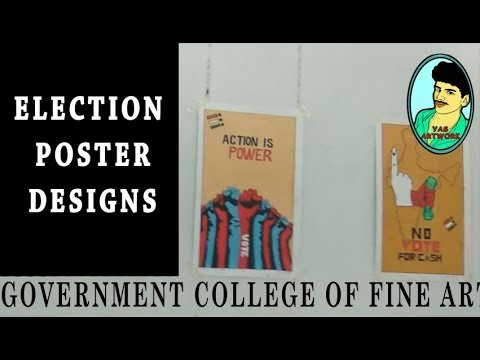 Government College Of Fine Arts Election Poster Design