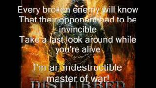 Disturbed -  Indestructible (lyrics)