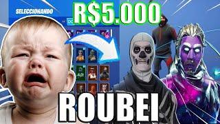 *Roubei* A Conta Do Fortnite De um Inscrito de R$5.000 E ele Se Desesperou!!!(Trollagem)